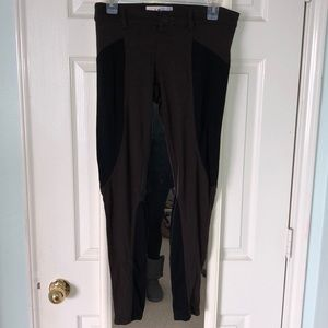 Jolt black and brown stretch pant